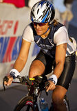 Sylvie Dansereau Racing in the Arizona Ironman Tr Stock Image