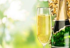 Sylwester, szampan, świętowanie Obrazy Royalty Free