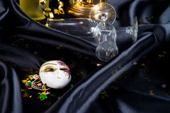 Sylwesteru szampan i szkło Fotografia Stock