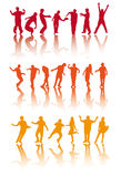 sylwetek dancingowi ludzie royalty ilustracja