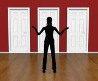 Sylwetek drzwi sposobów drzwi kierunek I Wybiera ilustracji