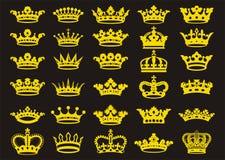 Sylwetek korony ustawiać ilustracji