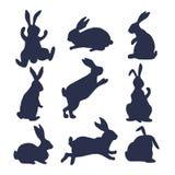 9 sylwetek króliki Fotografia Royalty Free