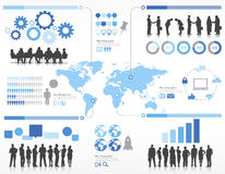 Sylwetek ludzie biznesu z globalizacja pojęciem Obrazy Stock