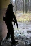 sylwetka żołnierz. Obraz Royalty Free