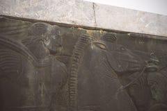 Sylwetka Aleksander Wielka statua przy zmierzchem thessaloniki Obraz Stock