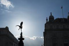 Sylwetka Alfred Gilbert statua Eros Obrazy Stock