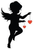 Sylwetka anioł royalty ilustracja