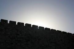 Sylwetka antyczna ściana Obrazy Royalty Free