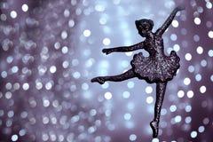 Sylwetka baletniczy tancerz obrazy stock
