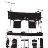 sylwetka budynek. ilustracji