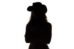 Sylwetka cowgirl fotografia stock