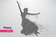 Sylwetka dancingowa dziewczyna od trójboka Tancerz kobieta Fotografia Stock