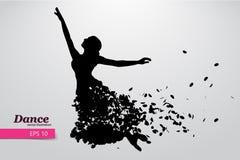 Sylwetka dancingowa dziewczyna Tancerz kobieta Obraz Royalty Free