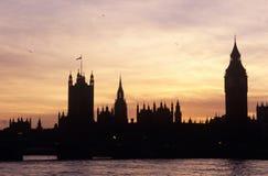 Sylwetka domy parlament, Londyn Obraz Royalty Free