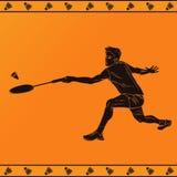 Sylwetka Fachowy Badminton gracz Fotografia Stock
