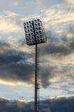 Sylwetka filaru światło reflektorów na zmierzchu Obraz Royalty Free