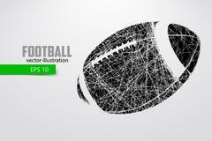 Sylwetka futbolowa piłka Zdjęcie Stock