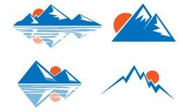 Błękitny góra emblemat Obraz Royalty Free