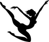 Sylwetka gimnastyczka Obrazy Royalty Free