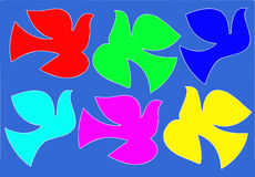 sylwetka gołąbki sylwetka Fotografia Stock
