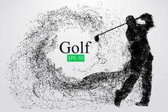 Sylwetka golfowy gracz również zwrócić corel ilustracji wektora Obrazy Royalty Free