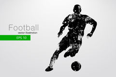 Sylwetka gracz futbolu również zwrócić corel ilustracji wektora Obrazy Stock