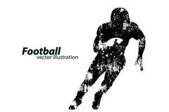 Sylwetka gracz futbolu rugby amerykański piłkarz Zdjęcia Stock