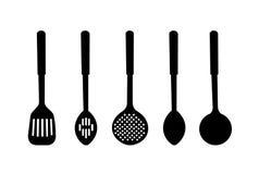 sylwetka ilustracyjny kuchenny artykuły ilustracja wektor