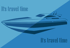 Sylwetka jacht ilustracji