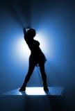 sylwetka jest tancerkę. Obraz Royalty Free