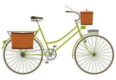 Zielony bicykl. Zdjęcia Royalty Free