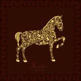 Sylwetka koń Zdjęcie Stock