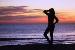 Sylwetka kobieta zdjęcie royalty free
