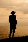 Sylwetka kobieta fotografia stock
