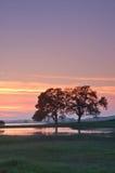 sylwetka krajobrazowa Fotografia Royalty Free