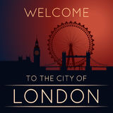 Sylwetka Londyn Obrazy Stock