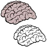 Sylwetka mózg ilustracja wektor