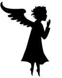 Sylwetka mały anioł Fotografia Royalty Free