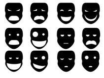Sylwetka maski Obrazy Royalty Free