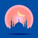 Sylwetka meczet z minaretami Obrazy Stock