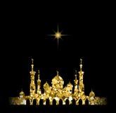 Sylwetka meczet z minaretami Zdjęcia Royalty Free