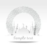 Sylwetka meczet z minaretami Zdjęcia Stock