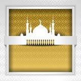 Sylwetka meczet z minaretami Obraz Stock