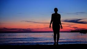 Sylwetka morzem Zdjęcie Royalty Free