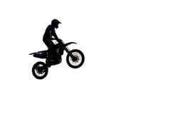Sylwetka motocross Obraz Royalty Free