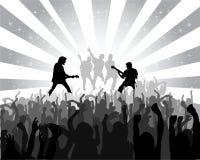 Sylwetka musicalu koncert Zdjęcia Royalty Free