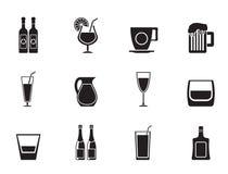 Sylwetka napoju różne ikony jakby ilustracji