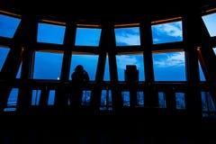 Sylwetka od okno Kobe wierza Obrazy Royalty Free