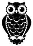 Sylwetka patchworku sowa. Zdjęcia Royalty Free
